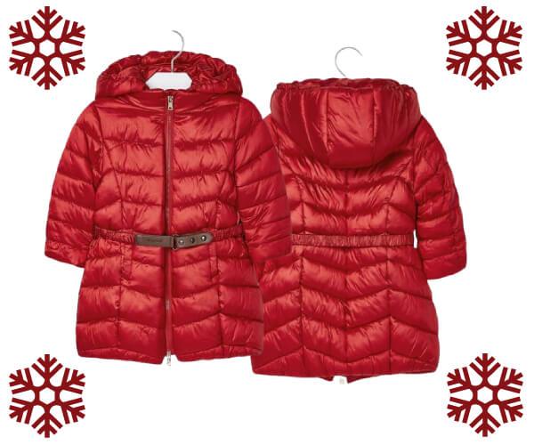 Dívčí dlouhý zimní kabát MAYORAL.