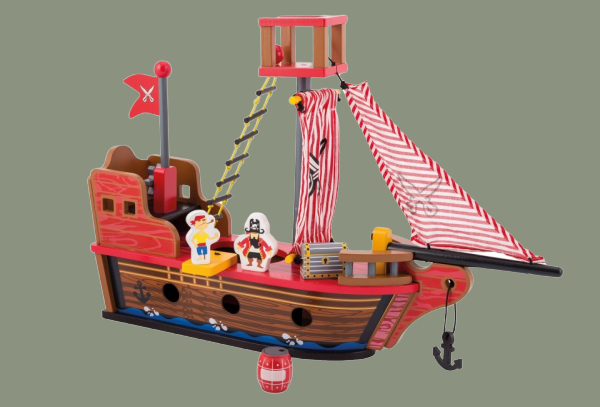 JOUÉCO Dřevěná pirátská loď 36m+.